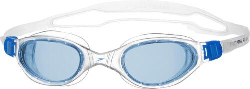 UV Protection Speedo Futura Plus Adult Swimming Goggles Anti-Fog Clear//Blue