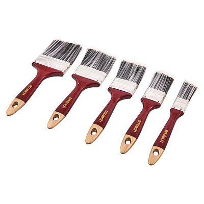 5pc Paint Brush Set Wooden Handle Decorating Painting Painters DIY Brushes