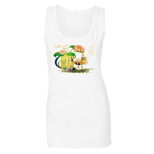 Save the bees Ladies T-shirt//Tank Top u262f