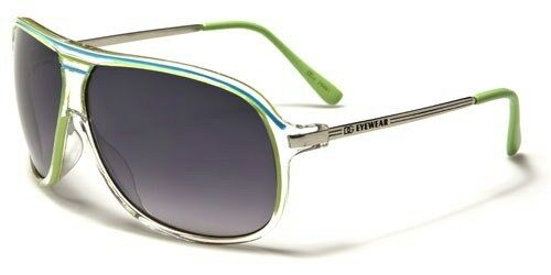 Clear Frame with Color Details Retro Vintage Aviator Womens Designer Sunglasses