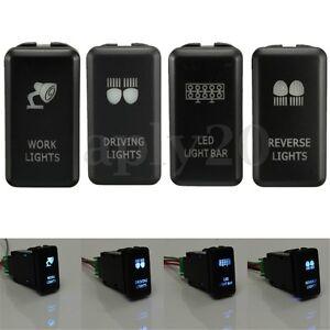 4xON-OFF-Push-Button-Switch-Blue-LED-Work-Light-Bar-For-Toyota-Hilux-Landcruiser