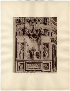 CERTOSA-DI-PAVIA-brogi-CORO-DI-STEFANO-DA-SESTO-Original-albumin-photo-1880
