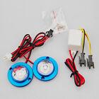 Car 2 LED Strobe Bulb Light Warning Emergency Flash DC 12V 5W+Controller Blue