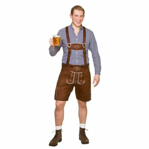 Adulte Fête de la bière en daim synthétique Lederhosen bière bavaroise Homme ROBE FANTAISIE HOMME