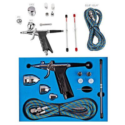 Dual//Action Airbrush Kit Needle Spray Gun Paint Art Craft Tattoo Air Brush Set
