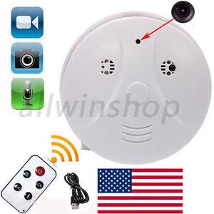 Wireless HD 1080P Spy Smoke Detector Hidden Camera Motion Detect DVR Camera HS