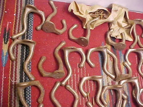 1 VINTAGE COAT HOOK  OLD STOCK 31 AVAILABLE