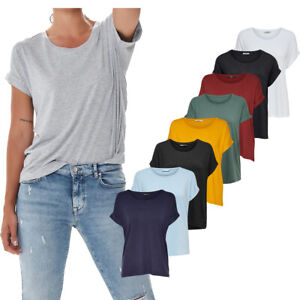 ONLY-Damen-T-Shirt-Onlmoster-S-S-Top-legeres-lockeres-und-laessiges-Shirt
