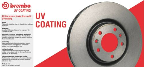 For Toyota Sequoia Tundra Front Left /& Right Disc Brake Rotors UV Coated Brembo