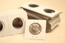6 Premium 2x2 Half Dollar Coin Case Holders Paper Flips - FREE SHIPPING