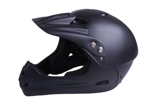VENTURA Freeride Downhillhelm Größe M 54 - 58 cm für Jugendliche schwarz matt