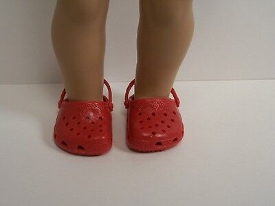 "BUBBLEGUM PINK  Kroc Duc Sandal Clogs Doll Shoes For 18/"" American Girl Debs"