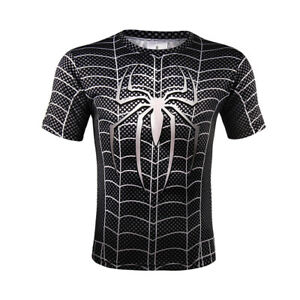 7b459118 Spider-Man 3D Printed T-Shirt Spiderman Tight Sport Tee Men Short ...