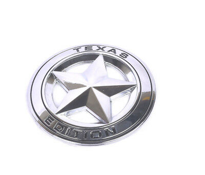 Metal Chrome Texas Edition Star Flag Emblem Sticker Jeep Chevy Fast Shipping