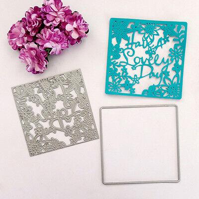 """""""How A Lovely Day"""" Stanzformen Stencil Papier Karten Scrapbook Tagebuch Dekor"""
