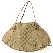 Gucci GG pattern twins tote bag canvas beeju / bronze 232963 Free Shipping