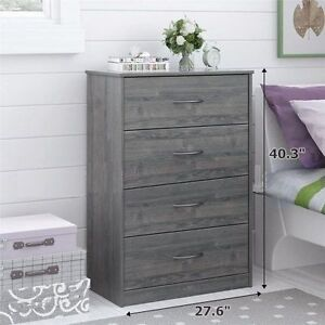 Merveilleux Mainstays 4 Drawer Wood Dressers With Drawers For Modern Bedroom, Gray,  029986541208