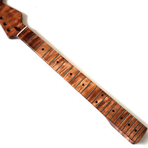 Details About One Pc Roasted Flame Maple Electric Guitar Neck In Nitro Painting