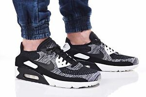8e72e2a017de7 NIKE AIR MAX 90 ULTRA 2.0 FLYKNIT BLACK WHITE OREO 875943-001 Mens ...