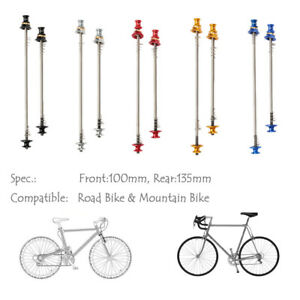 Quick Release 1Pair Titanium Ti Skewers Road Bike MTB Mountain Bicycle Cycling