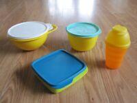 Opbevaringsbøtter, Tupperware, Orange gul