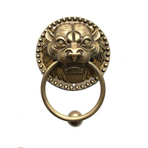 Image Is Loading Brass Tiger Head Lion Head Door Knocker 3
