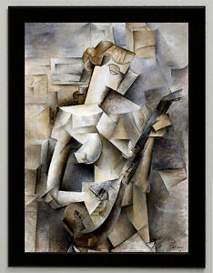Picasso girl with mandolin