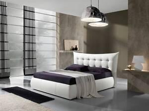 Letto matrimoniale con contenitore in ecopelle camera da letto 3 colori ebay for Colori camera da letto matrimoniale