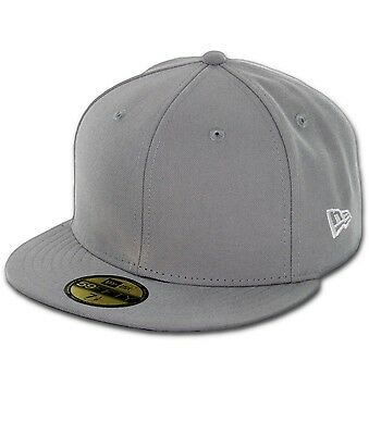 NEW ERA Plain BLANK GRAY Grey Original 59Fifty Fitted Baseball Hats Caps