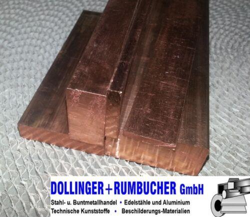 Kupfer E-Cu CW004A Flachstange Flach Cu-ETP 12x3 mm *Länge wählen*