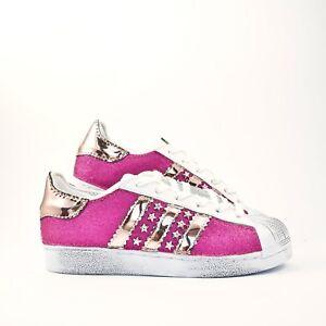 Glitter E Adidas Rosa Con Fucxia Superstar Piu' Specchiato Borchie Scarpe vqtPwXX