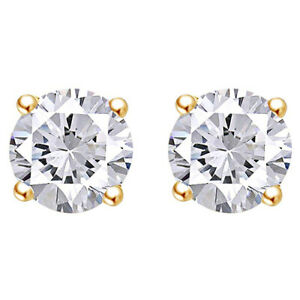 0-25-Cttw-Round-Cut-Diamond-Solitaire-Stud-Earrings-10K-Solid-Yellow-Gold