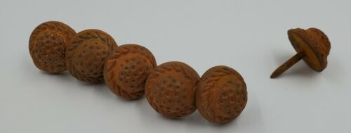Hand Forged Iron Round Sunflower Clavos 6 Count