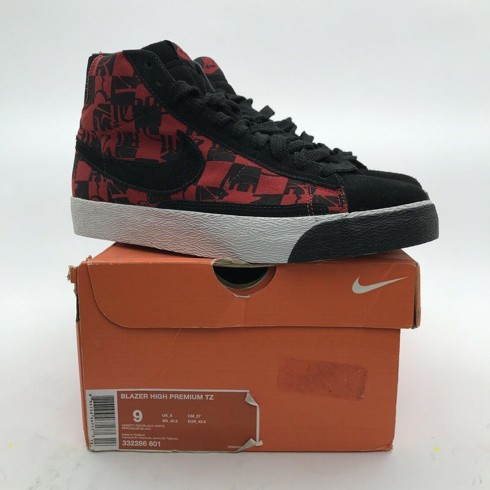 Nike Blazer High Premium TZ Stussy x Neighborhood Red LIMITED 332286-601 US 9