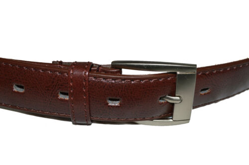 """BELT MENS BIG AND TALL DRESS BELT NEW BROWN SIZE 56/"""" GENUINE LEATHER"""