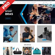 Fitness Wear Store Dropshipping Website Ready Made Business For Sale