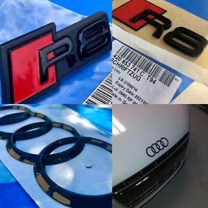 Original Set Pack AUDI R8 Black Edition Grille Trunk 4 Badges New Gt V10