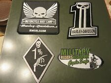 Lot Motorcycle Patches 1% Bones MC, MIlitary Riders, Willie G #1, Boot Camp