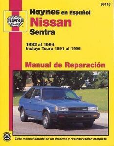 haynes manuals nissan sentra 1982 94 by john haynes 1999 rh ebay com 2017 Nissan Sentra SV Silver 2017 Nissan Sentra Sr