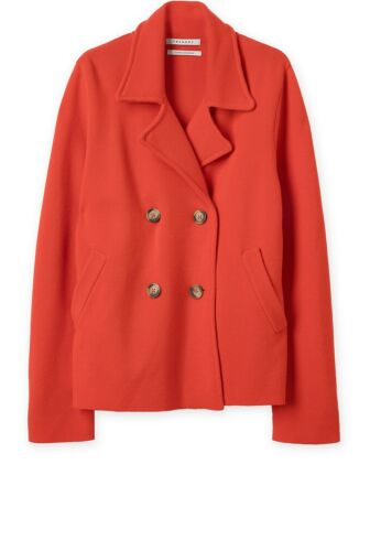 NWT $249 Designer TRENERY Country Road Merino Wool Milano Knit Coat Jacket