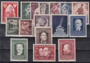 OSTERREICH-Lot-aus-den-Jahren-1946-1948-postfrisch-MW-25-30-FZB-188-2