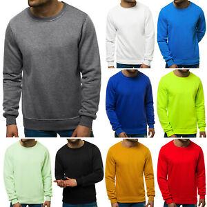 Pullover Strickpullover Sweater Basic Unifarben Langarmshirt OZONEE YY03 Herren