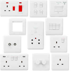 Magnificent White Curved Edge Wiring Accessories Socket Switch Usb Spur Dimmer Wiring Digital Resources Inklcompassionincorg