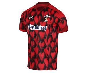 Under-Armour-Welsh-Rugby-Union-WRU-Jersey-Red-XL-1298989-602-Wales-UK-NWT-88