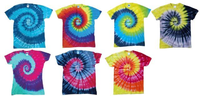 T-SHIRT MAGLIETTA UNISEX Spirale Moda Style Tie Dye Hipster hippy tinte a mano