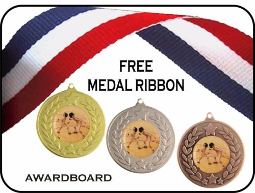 FENCING MEDAL 50mm GOLD SILVER /& BRONZE TROPHY AWARD FREE RIBBON FREE P/&P