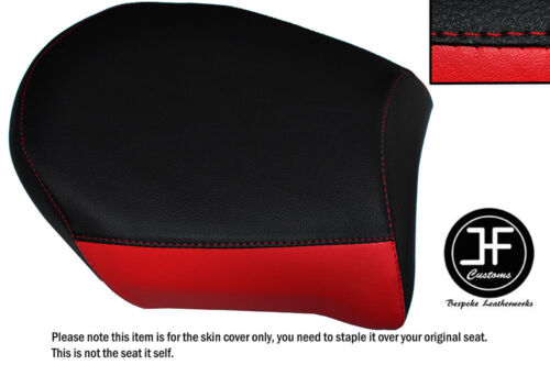 BLACK & RED AUTOMOTIVE VINYL CUSTOM FITS BMW R 1200 RS 2015-2016 REAR SEAT COVER