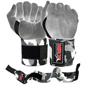 New-MRX-Wrap-Wrist-Weight-Lifting-Gym-Fitness-Training-Support-Bandage-Camo-Grey