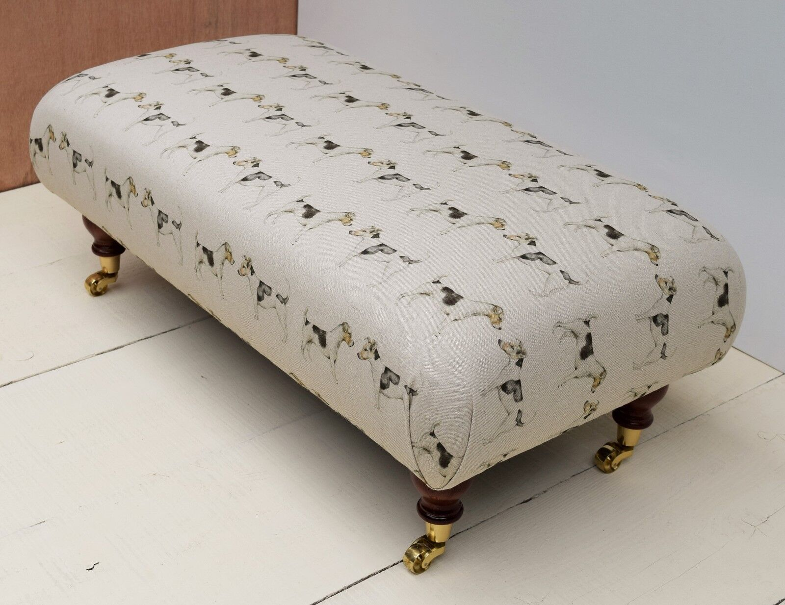 New Large Footstool - Voyage Animal Fabrics. Choice of 18 Fabrics, Legs & Größes