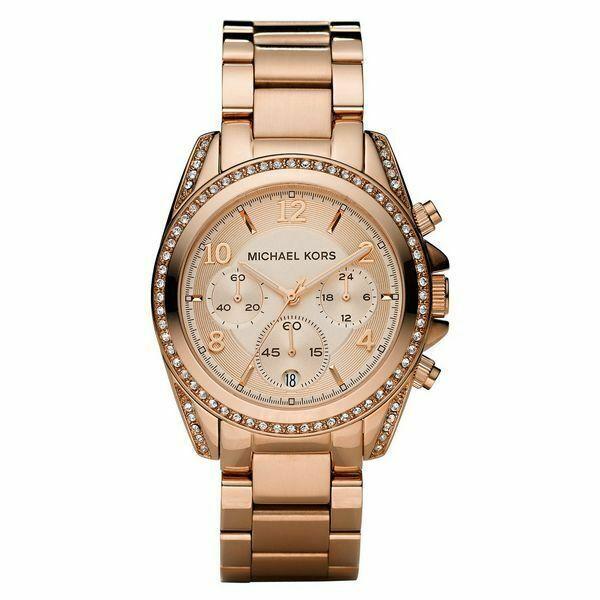 Michael Kors MK5263 39mm Caja y Correa de Acero Inoxidable en Oro Rosa, Reloj para Mujer   Compra online en eBay
